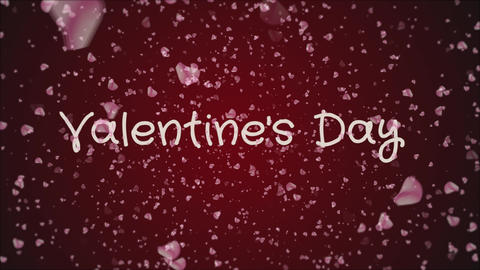 Animation Valentine's day, greeting card Stock Video Footage