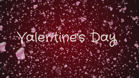 Animation Valentine's day, greeting card Footage