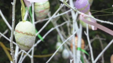 Decorative eggs for festive decoration Stock Video Footage