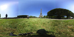 360 vr video of world famous Eiffel tower in Paris, France VR 360° Video