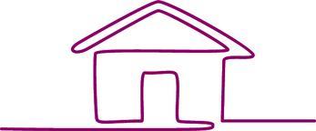 House Continuous Line Art Vector