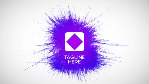 Color Paint Splatter Logo Reveal Animation - Ink Splash Business HD Intro After Effects Template