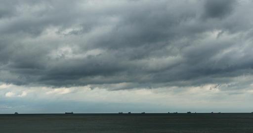 4k coastal beach coast cloud cloudscape&sparkling… Stock Video Footage
