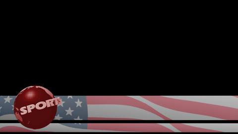Sports news lower third world US America flag 3rd sport title chyron l3rd 4k Footage