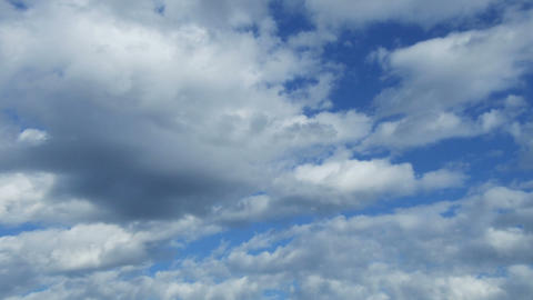 large clouds against the blue sky Animation