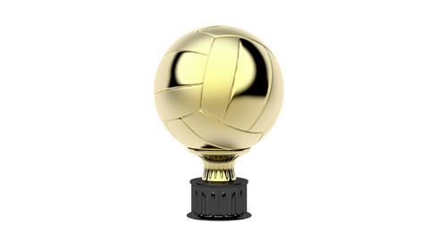 Gold volleyball trophy Animation