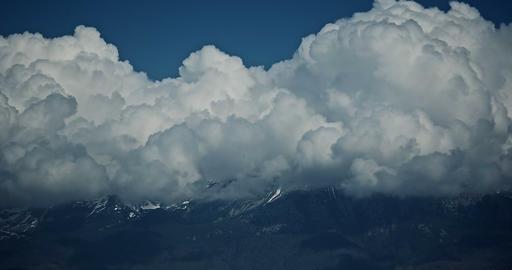 4K, Time Lapse, Close Up Pan Along High Tatra, Slovakia stock footage