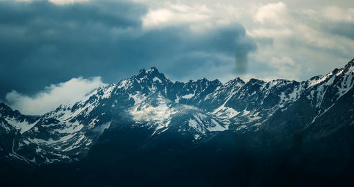 4K, Time Lapse, Epic Doomy Clouds Above High Tatra Mountain Range, Slovakia - Sl Footage