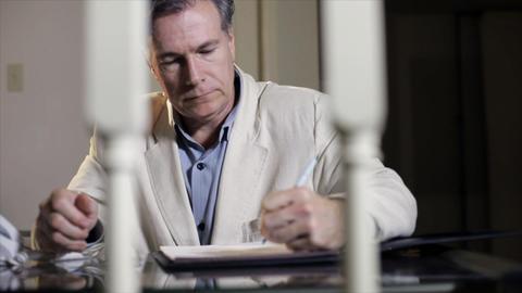 businessman writing Footage