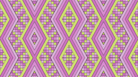 Kaleidoscopic Shapes Stripes and Squares Colorful… Stock Video Footage