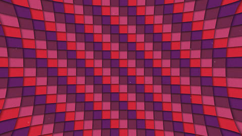 Abstract Shapes Colorful Squares Pattern Seamless Looping Animated Texture stock footage