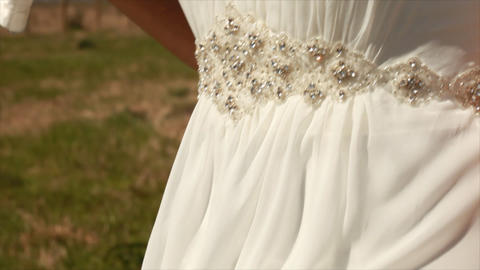 Tilt Up New Bride Closeup stock footage