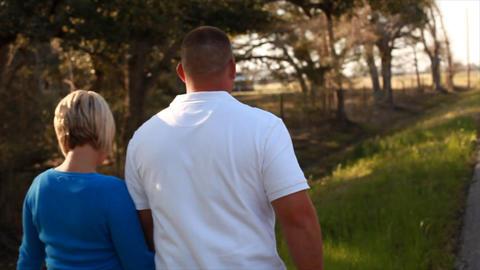 Steadicam Couple Walking stock footage