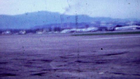 1951: US Foreign Soil Army Base runway airfield Footage