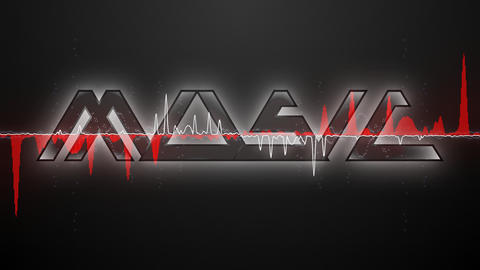 Audio waveform (Text MUSIC font 2) Stock Video Footage