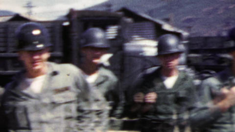 1951: US army grunt troops last photos before Korean War engagement Footage