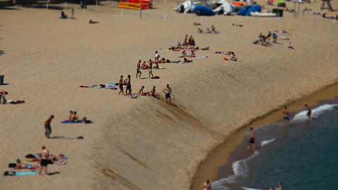 tanned people relax on the beach Footage