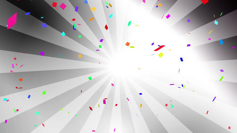Confetti colorful radial silver Animation