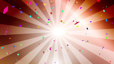 Confetti colorful radial bronze CG動画
