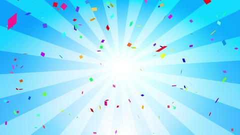Confetti colorful radial blue Animation