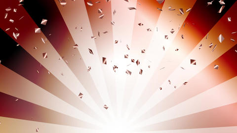 Confetti bronze Radial Background bronze Animation
