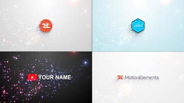 Minimal Particle Logo Reveal Template After Effects Template
