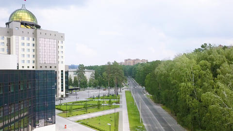 The new main building of Novosibirsk State University. Novosibirsk, Russia. 영상물