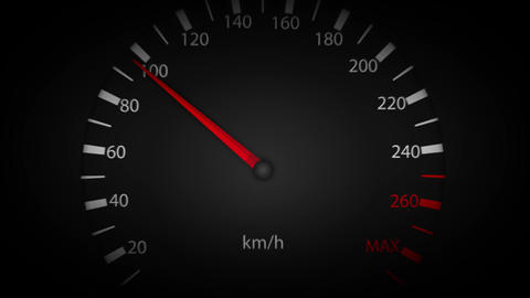 4k Car Speedometer Pointer High Speed Loop Animation