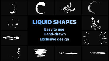 Dynamic Liquid Shapes After Effects Template
