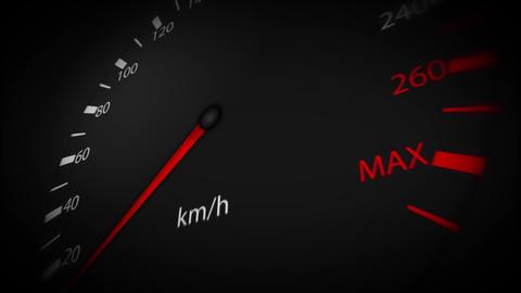 4k Car Speedometer Pointer High Speed Loop Animation