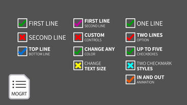Checkbox List Motion Graphics Template