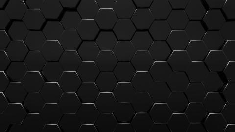Dark Hexagons Background CG動画素材