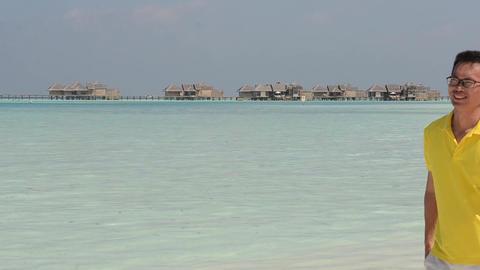 Maldives Asian couple Stock Video Footage