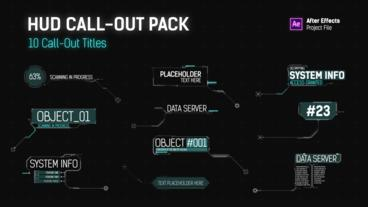 HUD Call Out Titles After Effects Template