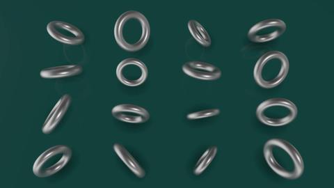 Model Of Torus Rotating Animation