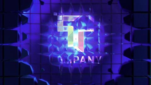 Futuristic Cube Wall Logo Reveals Premiere Proテンプレート