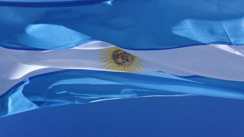 Argentina flag south america Footage