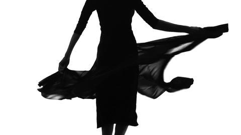 Slim feminine lady spinning in dance, waving dress, feeling internal freedom Live Action