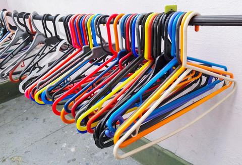 Clothes hanger or hook for hanging clothes with multiple colors フォト
