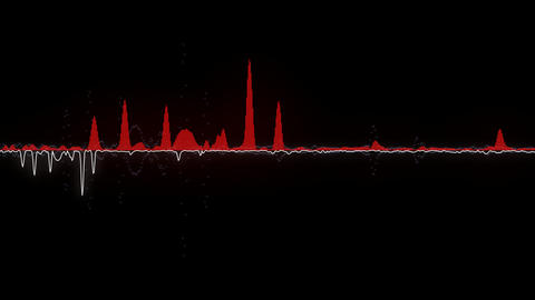 Single red audio waveform Animation