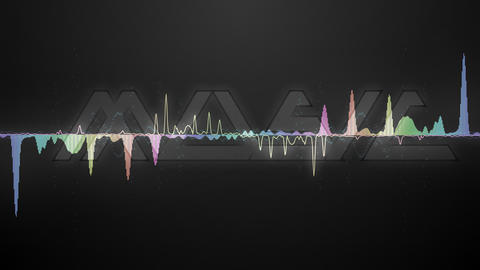 Audio waveforms and text Music 2 Animation
