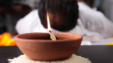 Oil Lamps in the Temple Footage