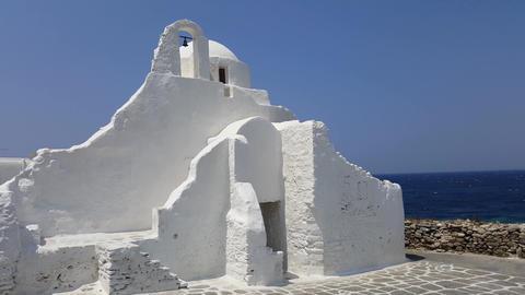 Mykonos, Greece - Paraportiani Church Footage