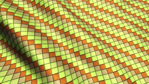 Yellow Orange Squares Fabric Cloth Material Texture Seamless Looped Background Animation