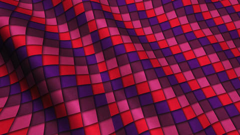 Red Squares Fabric Cloth Material Texture Seamless Looped Background Animation