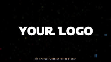 Retro Arcade Logo - Apple Motion Template stock footage