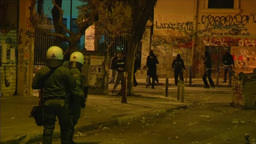 POLICE CLASH WITH DEMONSTRATION ATHENS GREECE EURO CRISIS Footage