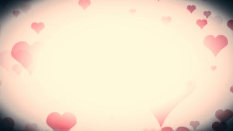 Colored Love Hearts Explosion In Frame Background Animation