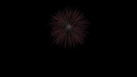 Single firework with start and end Footage