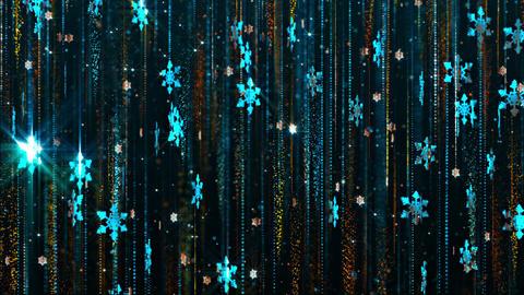 Background Blue Snowflakes Falling Christmas GIF